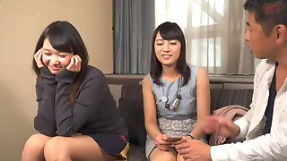 Shy Japanese Teens 3some Porn