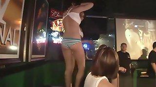 Seductive Babes Enter The Wet T-shirt Contest