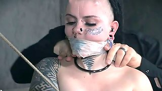 Luna LaVey Loves To Be Dominated And She Is One Weird Looking Tattooed Whore