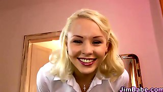 Uniformed Young Babe Blowing Old Dick - Lola Taylor
