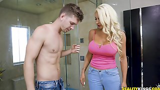 Nicolette Shea Seduced The Guy Markus Dupre At The Reception And Fucked Him