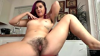 Hot Babe With Hairy Pussy