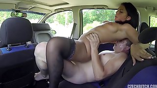 Whore Serves Customer In His Car