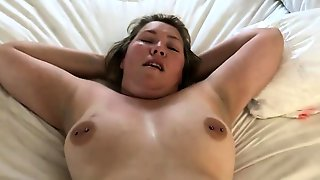 Mature Asian Wife Has Her Lover Plowing Her Holes On The Bed