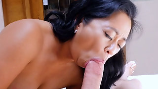 Asian Stepmom Wants To Help And Went For My Huge Cock