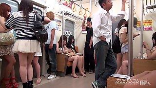 Tsuna (Tuna) Kimura - Time Screw Bandits At A Train - Japanese Fantasies