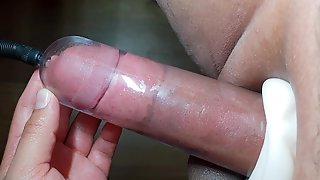 FILLING PENIS PUMP PART THREE, MAKING SMALL DICK TO THICK HUGE COCK 4K