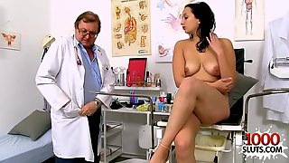 Natural Knockers Doctor Gaping And Cum Shot