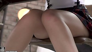 Romantic Vivid Coed Gal Renata Fox Dreams About Some Hard Anal