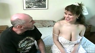 Tessa With A Old Fart - Big Mammaries