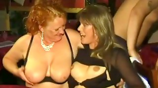 Lots Of Obese Nymphos Try Out To Look Hot Near The Pole In The Club