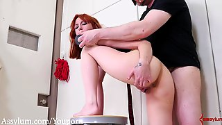 Harsh Bum To Facehole Instructing With Face Boning