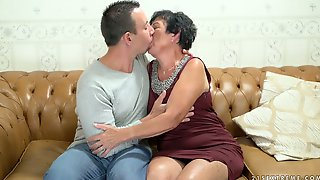 Slutty Old Woman Hettie Is Making Love With Her Young Neighbor