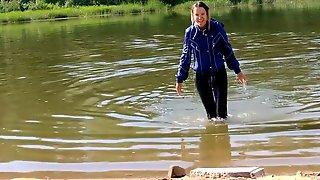 Wetlook Bathing In River