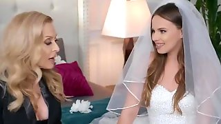Husband And Bride To Be Get  Taught By Hot Milf In Pre Wedding - Brazzers