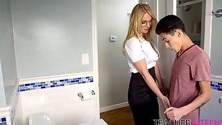 Stepson Fucks Deep Throat And Wet Cunt Of Sexy Stepmom Rachael Cavalli