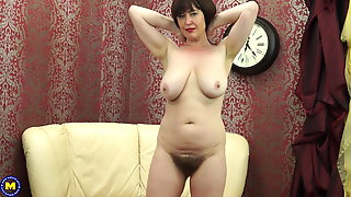 Posh MOM With Big Saggy Tits And Hairy Pussy