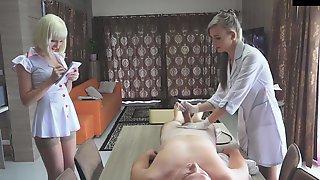 Nurses Latex Glove Handjob