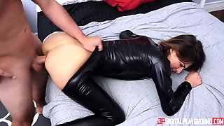 Beautiful Young Nurse In Black Is What The Patient Needs