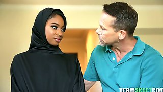 Nicely Shaped Hijab Hottie Lala Ivey Gets Fucked In Standing Pose Hard