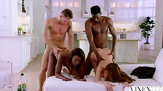 Idea useful white and ebony couple foursome pity