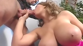 Big Hooters Babe Blond Hair Girl Hard Core