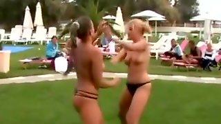 Topless Catfight