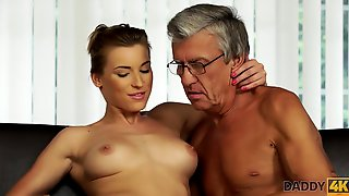DADDY4K. Old And 18yo Schoolgirl Lovers Practice Naughty Lovemaking In...