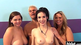 Three Girsl Like To Share One Penis - Jayden Lee