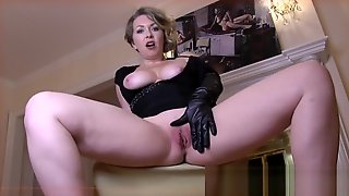 Leather Gloved MILF