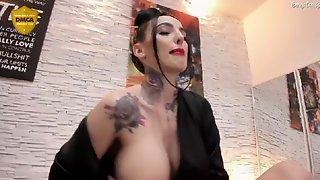 Super Silicone Webcam Tatooed Slut Shows Big Tits
