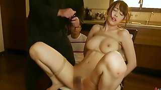 Beautiful Oriental Wife With Big Tits Cuckolds Her Husband