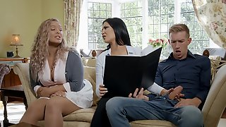 Brunette Mom With Big Boobs Gets Fucked On A Sofa By Danny D