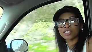 My Black Gf Leah Is A FREAK Even When Im Driving - Reality Kings
