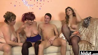 Lucky Guy Bangs Three Girls At Once - Ejaculation
