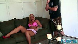 Curvy Blond Hooker Licks Sperm Off Hard Cock After A Steamy Pussy Pounding