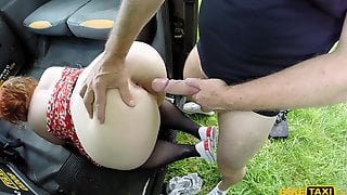 Fat Cow In Black Stockings Sucking And Fucking Johns Cock