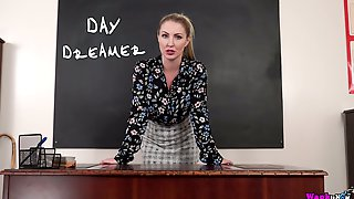 Strict Tutor Georgie Lyall Goes Solo And Stripteases To Play With Her Boobies