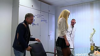 Doctors Shag Ukrainian Blondie Nympho (1080) - 3some