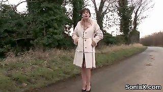 Unfaithful British Mature Gill Ellis Displays Her Huge Puppies