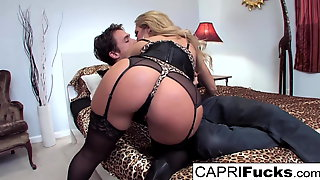 Capri Seduces A Man In A Cheesy Motel Room