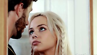 Bearded Lucky BF Pounds Juicy Bald Pussy Of His Lovely Auburn GF Elsa Jean