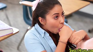 Teen Latina In Uniform