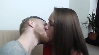 Young Webcam Couple Cant Stop Kissing