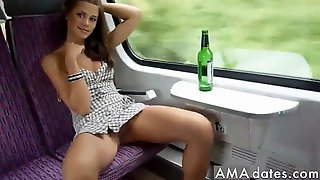 Hot Train Trip Amateur Hard 1