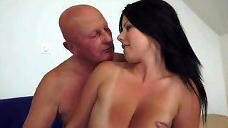 Claudias Big Tits Drives An Old Man Crazy