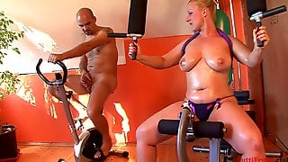 Horny MILF In The Gym