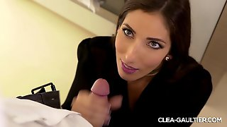Blowjob And Doggy Sex In The Kitchen Pour Clea Gaultier