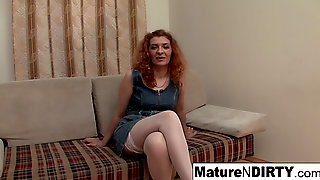 Redheaded Mature Gets Fucked & Rewarded With A Facial