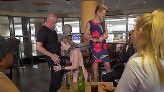 Skinny Bitch Double Fucking Had Sex In Public Bar